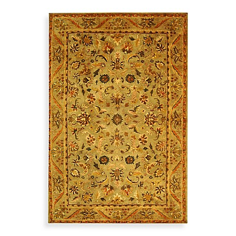 "Safavieh Antiquities Gold and Sage Wool 4' 6"" x 6' 6"" Oval Rug"