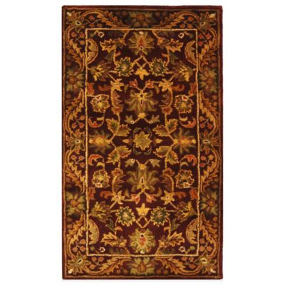 Safavieh Antiquities 2-Foot 3-Inch x 4-Foot Wool Accent Rug in Wine
