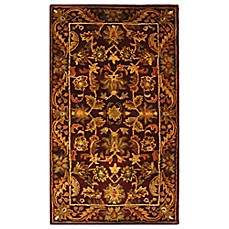 Safavieh Antiquities Wine and Gold Wool Accent Rugs