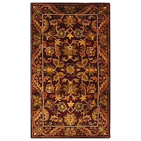 "Safavieh Antiquities Wine and Gold Wool 7' 6"" x 9' 6"" Rectangle Rug"