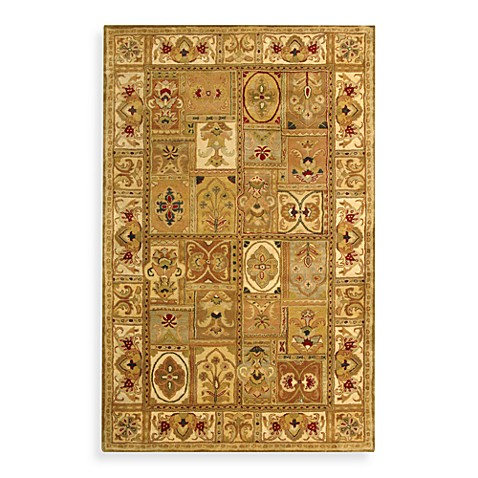 Safavieh Classic Wool Accent Rugs in Sage/Multicolor