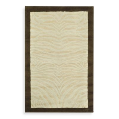 Safavieh 3-Foot 6-Inch x 5-Foot 6-Inch Wool Rug in Ivory and Espresso