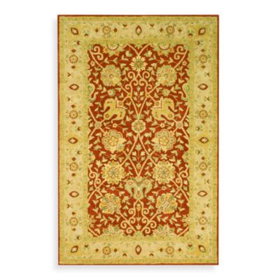 Safavieh Antiquities Rust Wool 5' x 8' Rectangle Rug