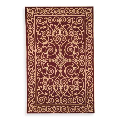 Safavieh Chelsea Wool 3-Foot 9-Inch x 5-Foot 9-Inch Rug in Burgundy