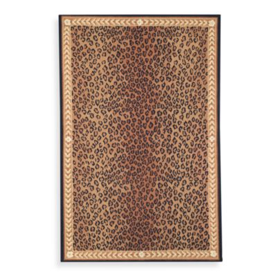Black Brown Wool Rug