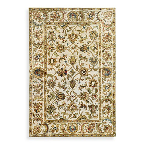 "Safavieh Classic Ivory Scroll Wool 2' 3"" x 4' Accent Rug"