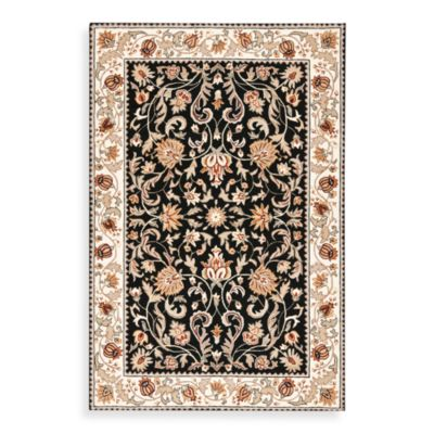 Safavieh EZ Care Rugs in Black/Ivory