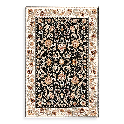 Safavieh EZ Care Black and Ivory 8' Round Rug