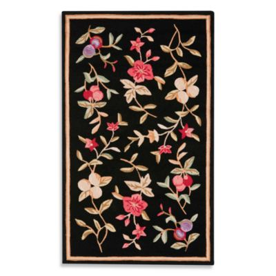 Safavieh EZ Care Black Floral Accent Rugs