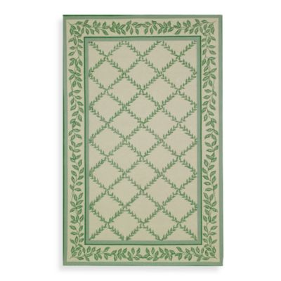 Light Green Wool Rug
