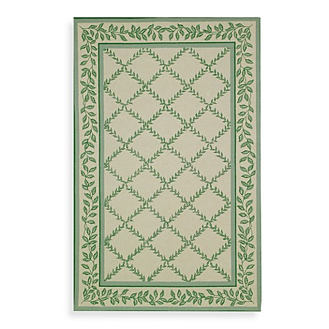 Safavieh Chelsea Ivory and Light Green Wool 8' Round Room Size Rug