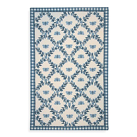 "Safavieh Chelsea Collection Blue Bee Wool 7' 6"" x 9' 6"" Oval Rug"