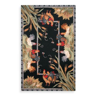 Safavieh Chelsea Black Hens Wool 7-Foot 9-Inches x 9-Foot 9-Inches Rectangle Rug