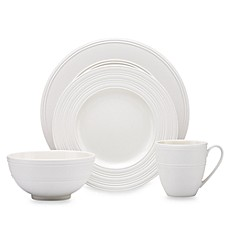 kate spade new york Fair Harbor 4-Piece Place Setting in White Truffle