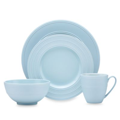 kate spade new york Fair Harbor Bayberry 4-Piece Dinnerware Set
