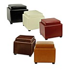 Safavieh Hudson Leather Bobbi Storage Ottoman