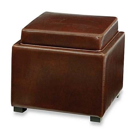 Buy Safavieh Hudson Bobbi Leather Storage Ottoman In