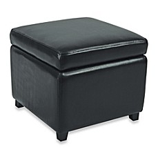 Safavieh Hudson Leather Jonathan Storage Ottoman