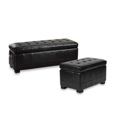 Leather Benches with Storage