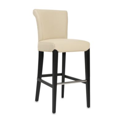 Safavieh Mercer Modern Seth Leather Barstool in Cream
