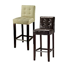 Safavieh Mercer Modern Thompson Leather Barstool