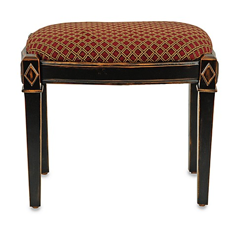 Safavieh American Home Lindy Black Ottoman/Stool