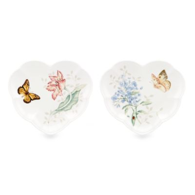 Lenox® Butterfly Meadow® Heart Shaped Party Plates (Set of 2)