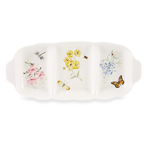Lenox® Butterfly Meadow® 3-Part Divided Server