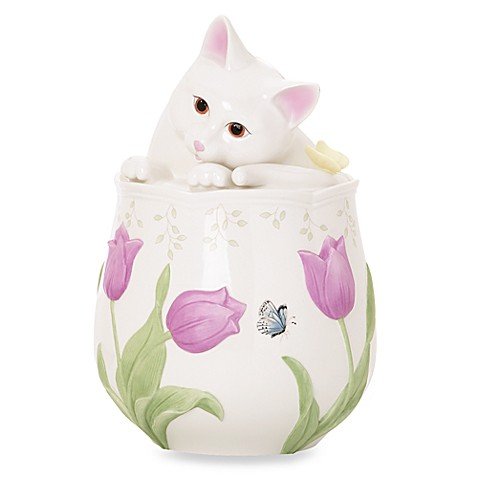 Lenox® Butterfly Meadow® Kitten Cookie Jar