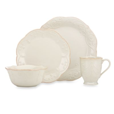 French Perle 4-Piece Place Setting in White