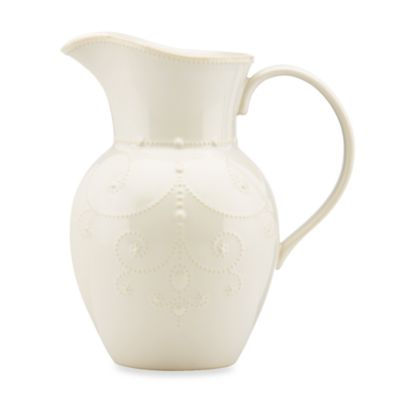 Lenox® French Perle Large Pitcher in White