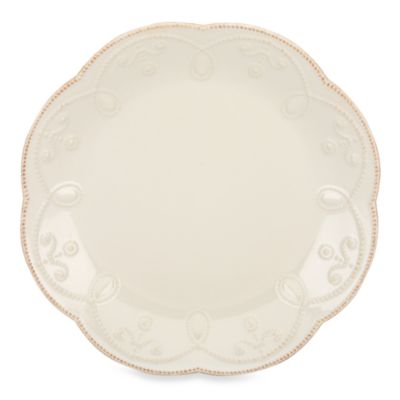 French Perle Accent Plate in White
