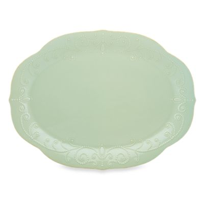 Lenox® French Perle™ 16-Inch Oval Platter in Ice Blue