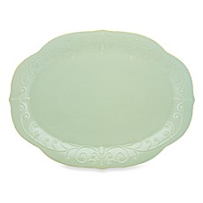 Lenox® French Perle Oval Platter in Ice Blue