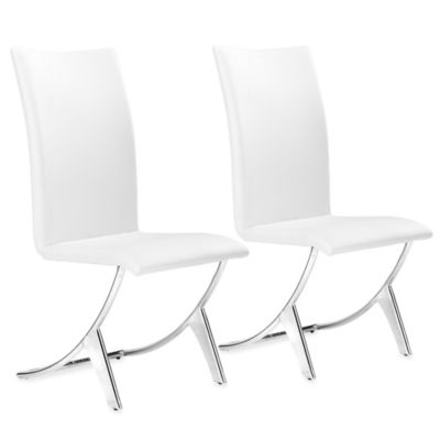 Zuo® Modern Delfin Dining Chairs in White (Set of 2)