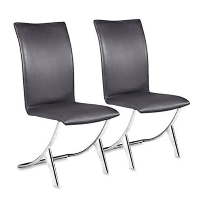 Zuo® Modern Delfin Dining Chairs in Black (Set of 2)