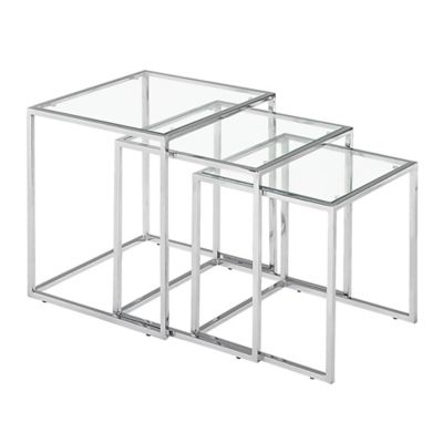 Zuo® Modern Pasos Clear Nesting Tables (set of 3)