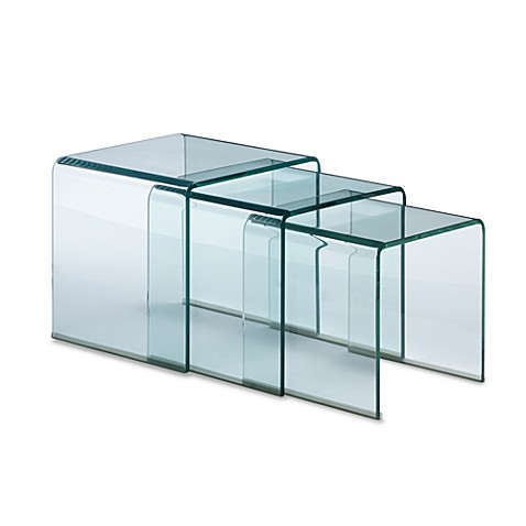 Zuo Modern Clear Explorer Nesting Tables