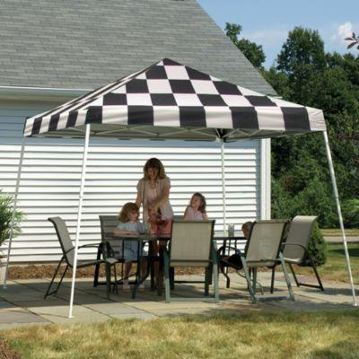 ShelterLogic® Sport Series 12-Foot x 12-Foot Slant Leg Canopy in Checkered Flag