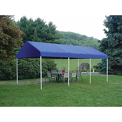 ShelterLogic® Decorative Series 1 3/8-Inch Frame 10-Foot x 20-Foot Celebration II Canopy in Blue