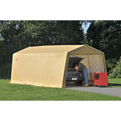 ShelterLogic® AutoShelter® 10-Foot x 15-Foot Instant Garage in Tan