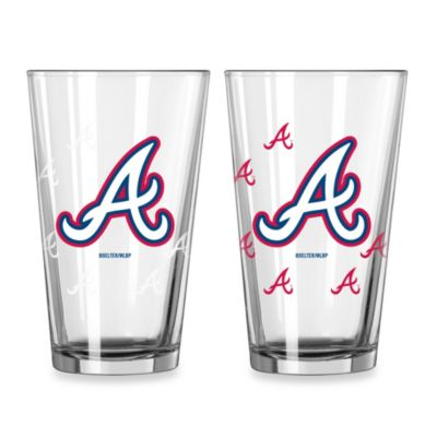 MLB Atlanta Braves Color Changing Pint Glasses (Set of 2)