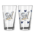 MLB Milwaukee Brewers Color Changing Pint Glasses (Set of 2)