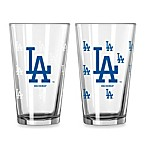 MLB Los Angeles Dodgers Color Changing Pint Glasses (Set of 2)