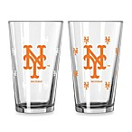 MLB New York Mets Color Changing Pint Glasses (Set of 2)