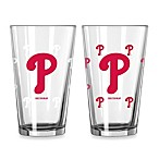 MLB Philadelphia Phillies Color Changing Pint Glasses (Set of 2)