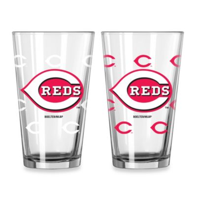 MLB Cincinnati Reds Color Changing Pint Glasses (Set of 2)