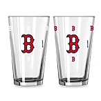 MLB Boston Red Sox Color Changing Pint Glasses (Set of 2)