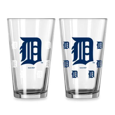 MLB Detroit Tigers Color Changing Pint Glasses (Set of 2)