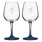 Satin Etched MLB Cleveland Indians Wine Glasses (Set of 2)